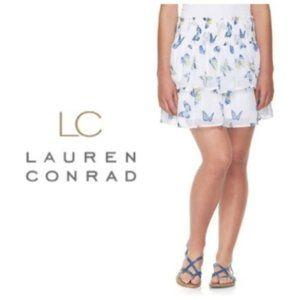 LC Lauren Conrad Juniors White Blue Skirt Sz S NWT